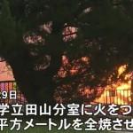 熊本市立田山の東海大学放火事件逮捕の14歳中学生は誰?顔?名前?どこの中学?動機は?